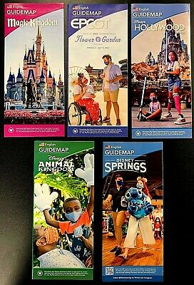 NEW 2020 Walt Disney World Theme Park Brochures - 5 Current Maps! + Bonus !!!