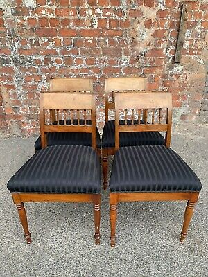 Set Of Four Antique Early 20Th Century Mahogany Dining Chairs - 4 Chairs