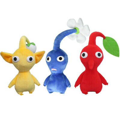 Game Pikmin Plush Toy Blue Flower Plushies Doll Soft Stuffed