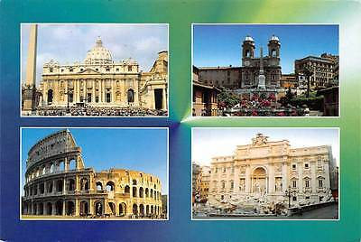 Italy Roma Colosseo The Colosseum Fontana di Trevi Fountain St. Peter Cathedral