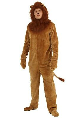 Adult Deluxe Cowardly Lion Wizard of Oz Costume M XL 4X (Used)