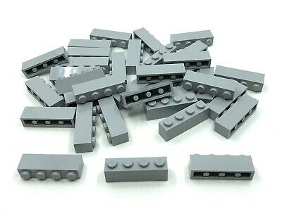 4 x LEGO 3010 Brique Brick 1x4 gris light bluish grey gray NEUF NEW