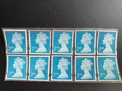 200 2nd class security stamps unfranked off paper with gum