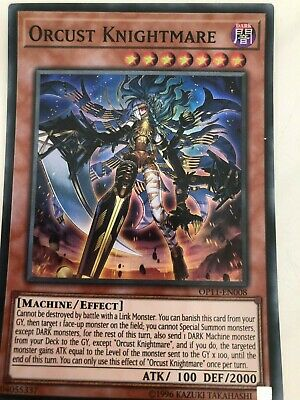 Orcust Knightmare Near Mint Super Rare Unlimited Edition x1 OP11-EN008