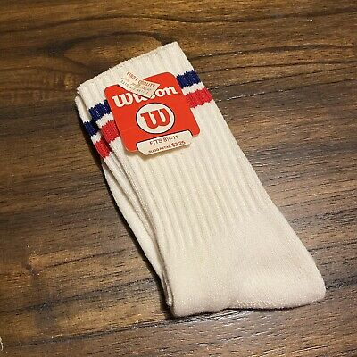 Vintage Wilson Striped Tube Socks 90s NOS NEW