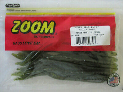 """45ct WATERMELON SEED 4/"""" CENTIPEDES Bass Fishing Baits Soft Plastic French Fries"""