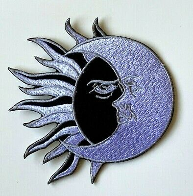 YIN YANG Heat Activator Embroidered Patch Iron on Sew On Badge For Clothes etc