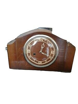 Smiths Enfield Chime Mantle Clock In Fair Condition