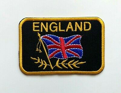 ENGLAND FLAG ST GEORGE CROSS  FOOTBALL CREST BADGE IRON SEW ON PATCH