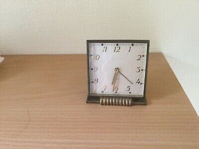SWIZA  De LUXE 8 Day Swiss Mid Century Mechanical Wind-Up Alarm Carriage Clock