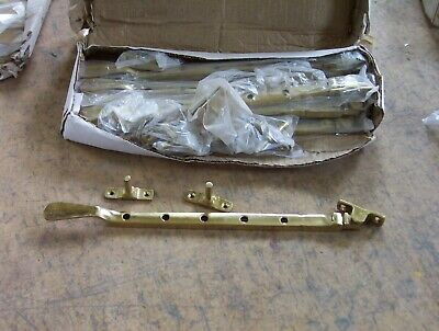 """10"""" Polished Brass casement stays, Box of Ten. listed building / heritage"""