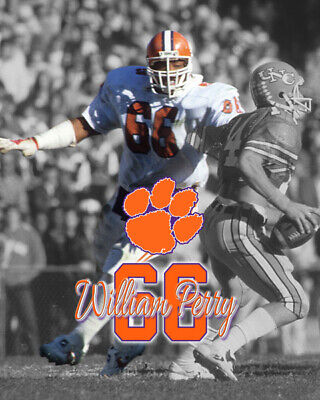 WILLIAM PERRY CLEMSON UNIVERSITY TIGERS 8X10 SPORTS ACTION PHOTO