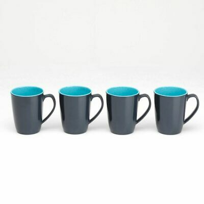 Flamefield Caravan Set of 4 Two Tone Melamine 4 Pack Mug Cup Set 11.5 oz SW424
