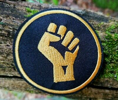 Black Power BLM Fist Embroidered Iron On Patch S7730//RR