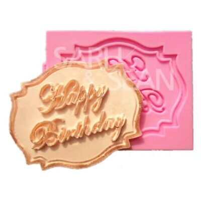 New 3Dilicone Fondant Happy Birthday Mould Chocolate
