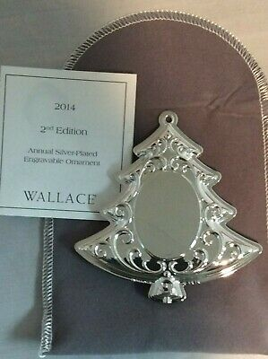 Wallace 2014 silverplate tree ornament  #10393