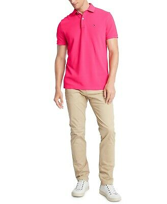 TOMMY HILFIGER Men's Custom-Fit Ivy Polo Shirt NEW NWT