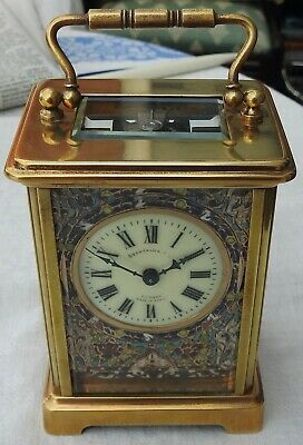 C1890 Antique French 8 Day Carriage Clock Cloisonne Benefink & Co Spares Repairs