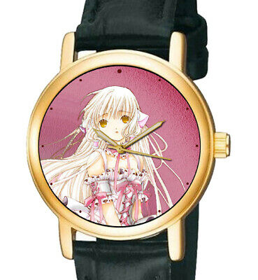 CHOBITS, BEAUTIFUL EARLY JAPANESE MANGA ANIME ART 30 mm SOLID BRASS WRIST WATCH