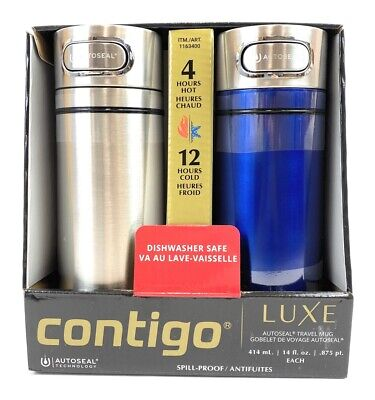 WHOLESALE - New Contigo Autoseal Travel Mugs / Tumblers │ Spill-Proof 14 oz Pack