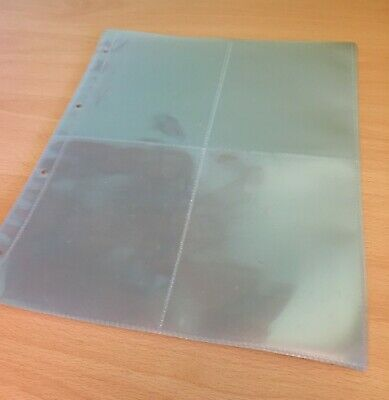 10 x PAGES/SLEEVES TO FIT ROYAL MAIL POSTCARD ALBUMS & HOLD PHQ POSTCARDS