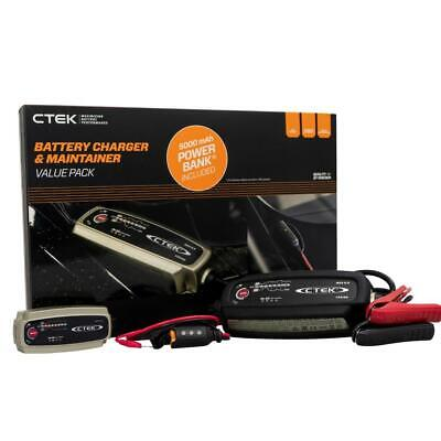 CTEK MXS 5.0 Smart Trickle Battery Charger w Indicator + Powerbank + Bumper