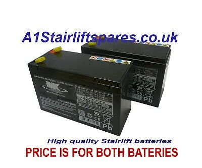 Stannah 400 stairlift batteries x2