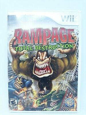 rampage total destruction wii controls