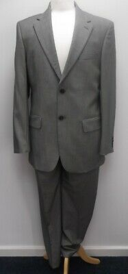 Austin Reed Men S 10 Wool Suit In Grey Jacket Size 40r Trousers 34l 4 99 Picclick Uk
