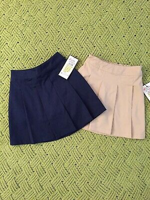 PLEATED GIRLS SKORT UNIVERSAL SCHOOL UNIFORM CHOOSE NAVY KHAKI OR BLACK NEW NWT