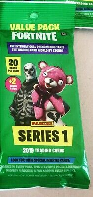 2019 Fortnite Series 1 Trading Cards Value Cello Pack 22 Card Packs 3 Rares Pack