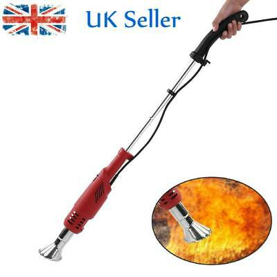 2000W Electric Weed Burner Weed Killer Remover Wand Hot Air Blaster Torch Uk
