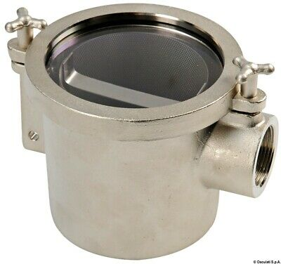 Osculati nickel-plated brass water filter rina 3/4""
