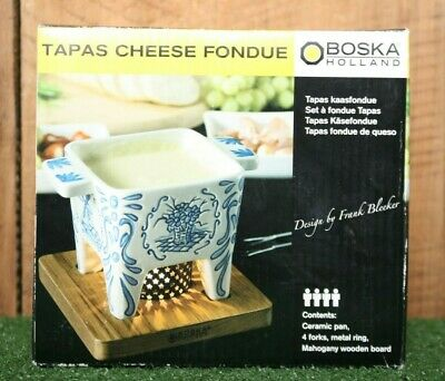 BOSKA HOLLAND DUTCH Collection 5pc Tapas Cheese Fondue Set
