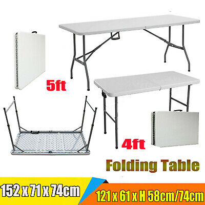 Heavy Duty Diy Folding Table Portable Plastic Camping Bbq Garden Party Catering
