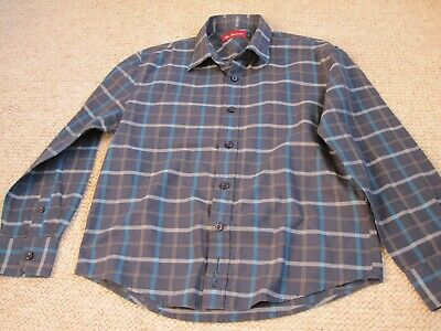 Boys Blue Check Ben Sherman Shirt Size S
