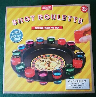 Spin /& Shot Roulette Wheel Casino Party Drinking Set for Adults Glasses Game UK