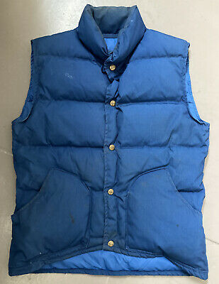 Vintage 1980s Class 5 Mountaineering Goose Down Vest Made In Usa Medium