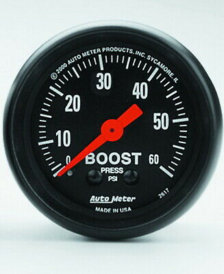 2617 Autometer 2617 Z Series Mechanical Boost Gauge