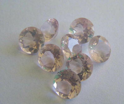 100% Natural Fine Quality Rose Quartz 6mm Round Faceted Cut Loose Gemstone Lot