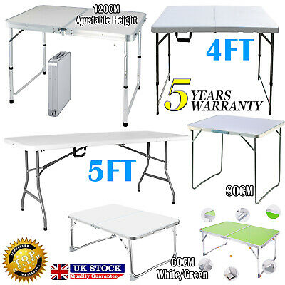 Alu / Plastic Portable Adjustable Folding Table Camping Outdoor Picnic Party BBQ