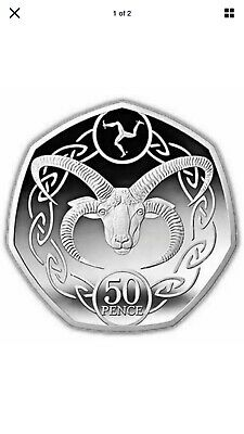 2020 ISLE OF MAN Loaghtan Sheep Ram 50p Coin UNC  from a sealed bag