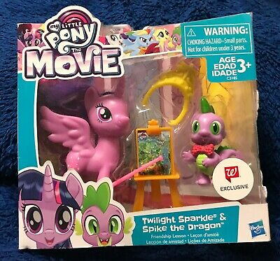 MY LITTLE PONY THE MOVIE TWILIGHT SPARKLE SPIKE DRAGON WALGREENS EXCLUSIVE NEW