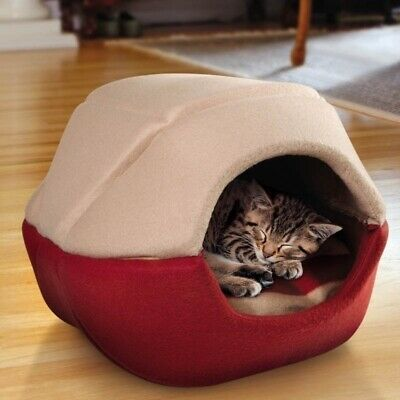 Round Cat Bed House Soft Dog Pet Nest Warm Sleeping Bed Puppy Pet Cat Dog House