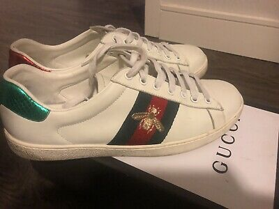 PRE-OWNED GUCCI ACE PLATFORM WHITE