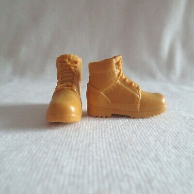 Ken Doll Brown Construction Work Hiking Boots Barbie Shoes Clothes Fashionistas