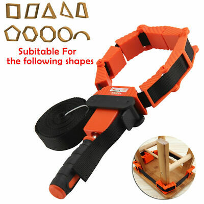 4m Woodworking Band Strap Clamp Wear-resistant Woodworking Strap Ratchet Corner Miter Vise Framing Tool for Woodworker Diy Craft