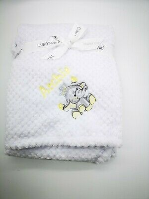 PERSONALISED WAFFLE  Elephant super soft embroidered blanket 4 colors STUNNING