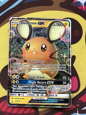 POKEMON Dedenne GX 57//214 UNBROKEN BONDS Half Art