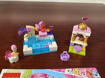 LEGO New White 2x2 Tile Pink Pet Paw Gold Scrolls Whisker Haven Tales Pattern